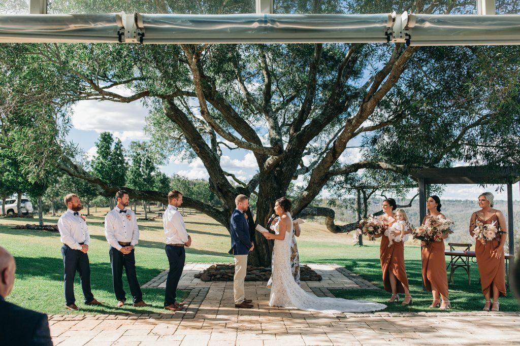 Preston peak wedding ceremony toowoomba